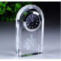 Logotipo personalizado Business Gift Decoration Reloj de cristal