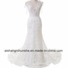 Elegant Strap Sexy Lace Mermaid Wedding Dress