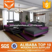 SUMENG современные 2013 лучшие продажи серый ткань диван