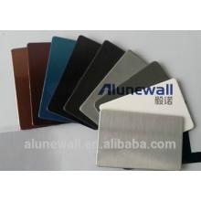 Alunewall produit principal en acier inoxydable panneau composite en aluminium