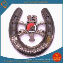 Moedas militares feitas sob encomenda do metal da lembrança do Warhorse da novidade 3D (LN-077)