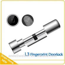Escáner de huellas digitales Bloqueo biométrico de huellas digitales Bloqueo de seguridad de cilindro pequeño
