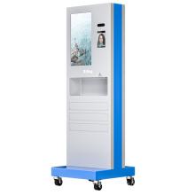 Attendance Face Recognition Terminal Temperature Measurement Automatic Hand Sanitizer Print Label Kiosk