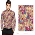 100% Cotton Sateen Printed Digital Custom Shirting Fabric