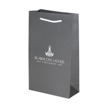 Luxury Black Gift Packaging Paper Bag With Handle