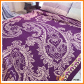 100% WOOL Floral Paisley Knitted Blanket