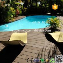 Piso de piscina compuesto de caucho de madera