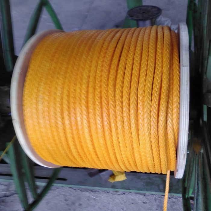12-Strand UHMWPE Winch Rope Mooring Rope Yellow