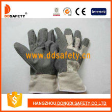 Grey PVC Gloves with White Cotton Back Dgp106