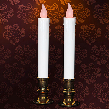 Multi-colored window taper candle