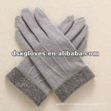 Luvas de tela de toque de lã