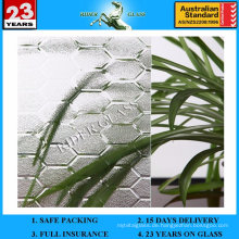 4-6mm klare / farbige Patterned Louver Glas mit AS / NZS2208: 1996