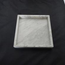 Đá cẩm thạch trắng Square khay phục vụ