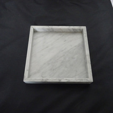 White Square Marble Serving Tray