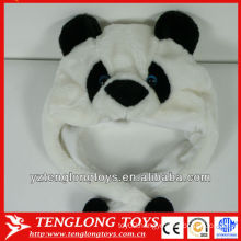 High quality cute and lovely panda face plush winter cap with ears