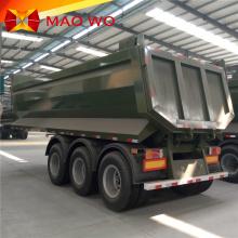 rear tipper hydraulic U shape 4 axles dump trailers tipper semi trailer