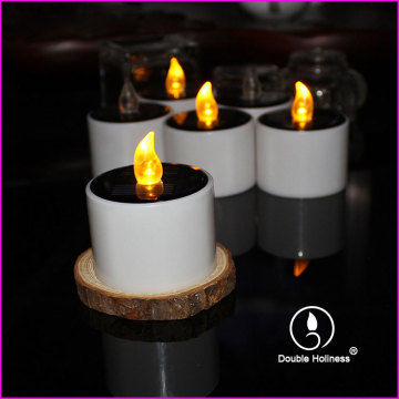 rechargeable solar function led flickering tea light candle