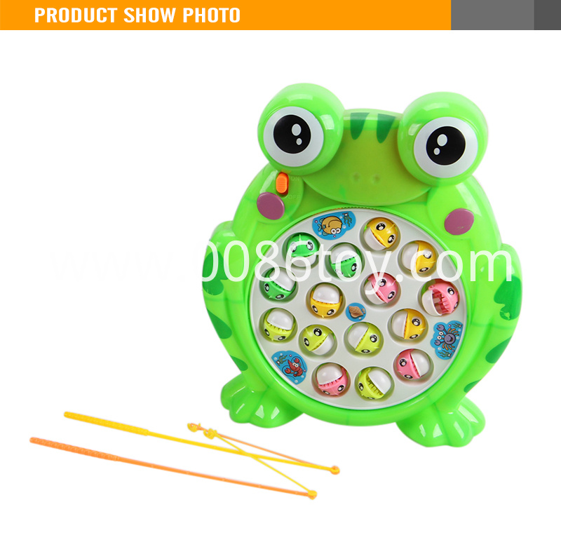 Electric Frog Fishing Game Machine With Light