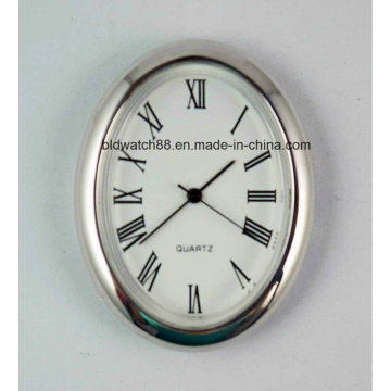 Cheap Mini Quartz Clock Inserts Silver Small Metal Clocks Gift