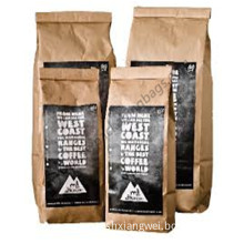 No Printing with Label Brown Paper Bag