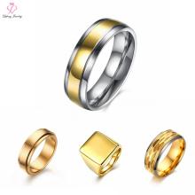 Joyería de moda 24k Anillo de oro simple sin diamante