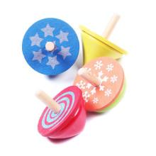 FQ marca de alta calidad mejor personalizada nueva madera niños juguetes spinning top