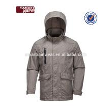 Waterproof Fall Winter jacket with zipper printing reversable men bomer jacket