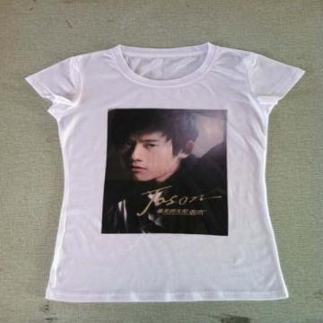 Women′s Shortsleeve Round Collar T-Shirt