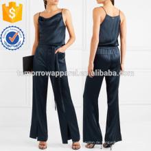 Drapierte Satin Jumpsuit Herstellung Großhandel Mode Frauen Bekleidung (TA30013J)