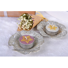 Decorative Paraffin Wax White Tealight Candle Unscented