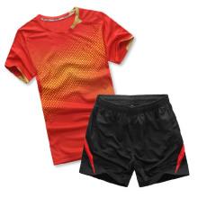2014 अमेरिकन बैडमिंटन खेल जर्सी रिक्त बैडमिंटन टी शर्ट बैडमिंटन थोक वस्त्र
