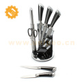 7 pieces stainless kitchen cheif knife set with stand