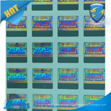 Rectangle tamper evident custom made hologram sticker