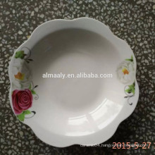 flower shape bowl ceramic pet bowl