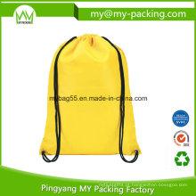Saco de cordão de embalagem de compras reciclado personalizado