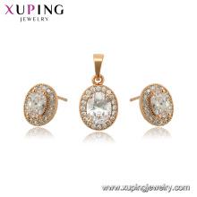 65045 xuping 18k banhado a ouro gemstone moda jóias set para as mulheres