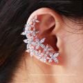 28605 Xuping fashion flower multi stone silver jewelry women boho earring clip earrings
