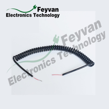 Custom PVC Coated Electrical Coiled Cord Cable Assembly