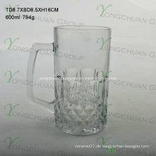 600ml Glas Cup mit Nizza Form guter Verkauf 2015