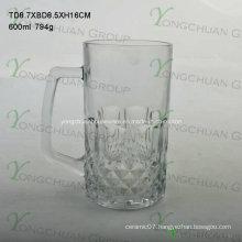 600ml Glass Cup with Nice Shape Good Sale 2015
