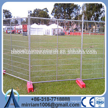 DD portable painted used temporary metal fence panels