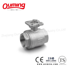 2PCS Thread Ball Valve with Mounting Pad