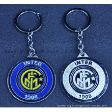 Chaîne de porte-clés porte-clés en métal porte-clés de football personnalisé pour la promotion