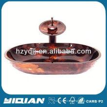 Banheiro extravagante vaso de vidro temperado Lavatório temperado Lavabo