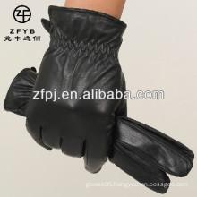 handmade motorbike leather mittens glove for man's