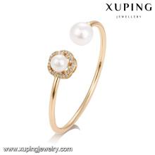 51732 Xuping jóias por atacado de moda dupla pérola pulseira para as mulheres
