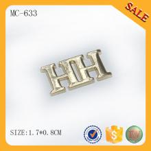 MC633 Custom zinc alloy logo jeans metal label
