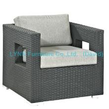 Cadeira de pátio Cadeira de varanda Sofá de poltrona de Rattan PE