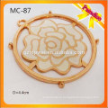 MC87 Custom Garment accesorios de metal de la flor para la etiqueta de metal