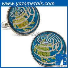 Hand painted caymen island ten cent coin cufflinks, customize cufflinks